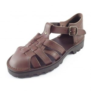 HP02155 Madonna - full-grain genuine leather mens fisherman sandals by Der Lederhandler