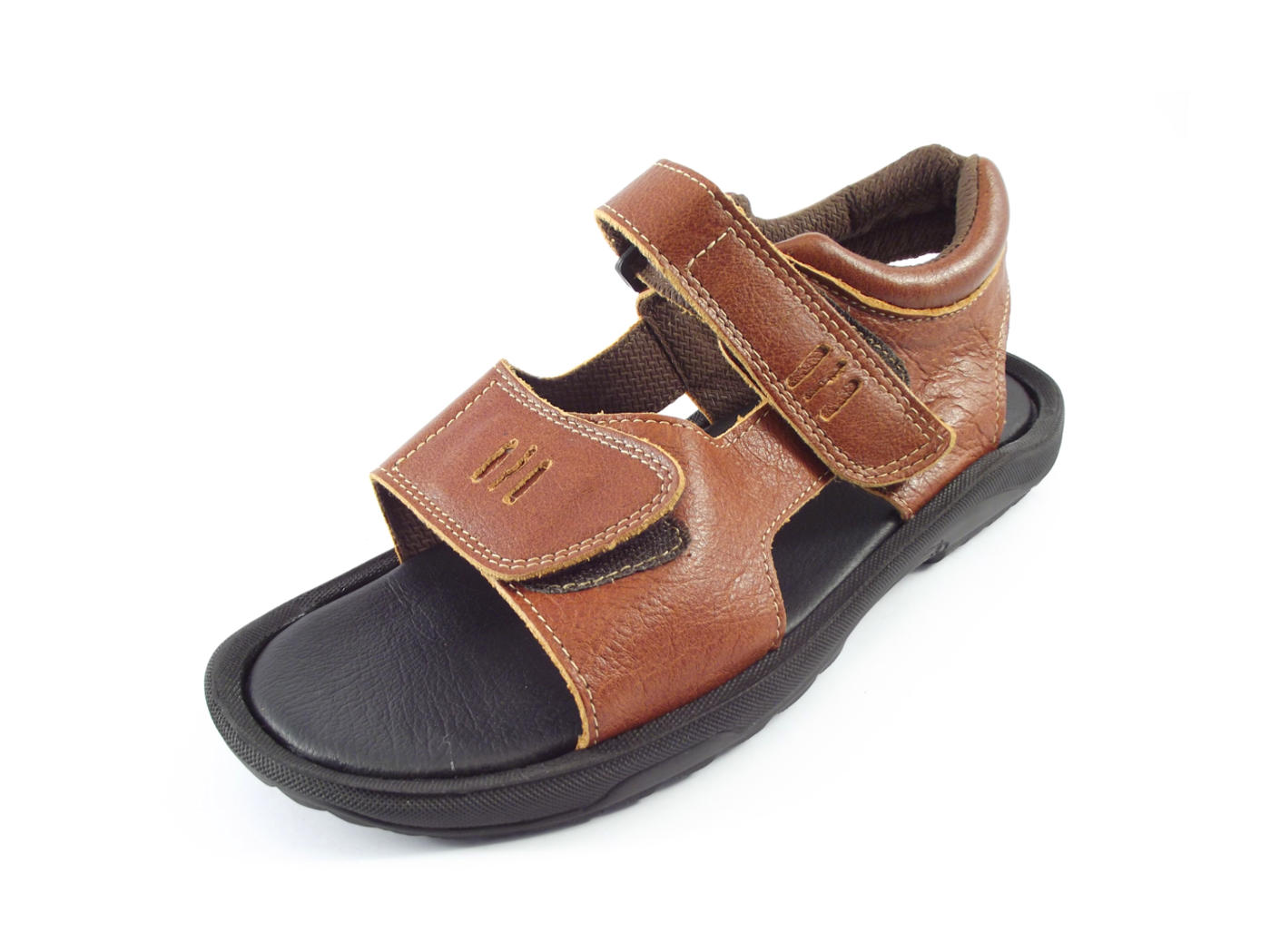 5502b9fe1 Full-grain genuine leather men s outdoor sandals