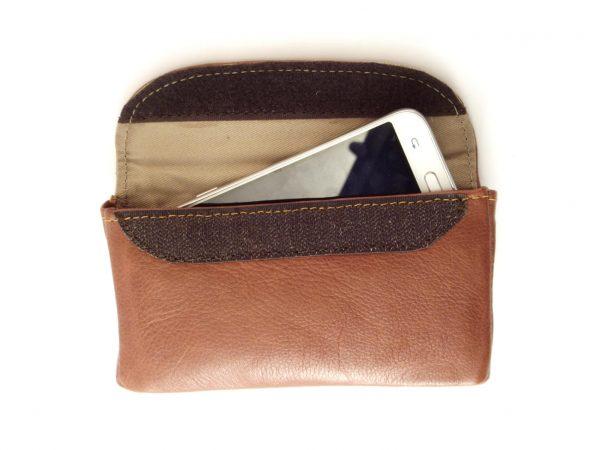 HPGG2026AST Cell Phone Pouch Samsung XL - cell phone belt holster by Der Lederhandler