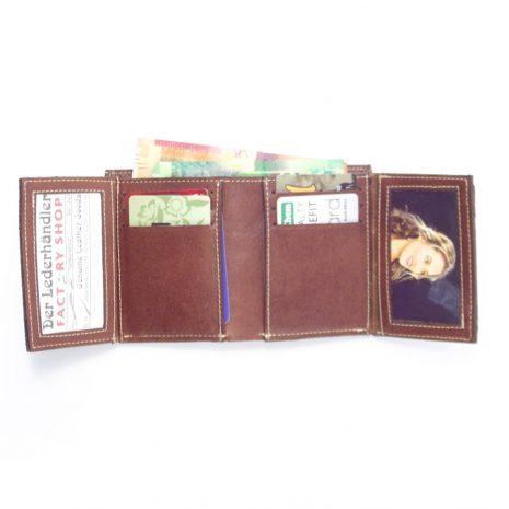 Wallet Men's Three HPMW03WTST - genuine leather credit card holder wallet by Der Lederhandler