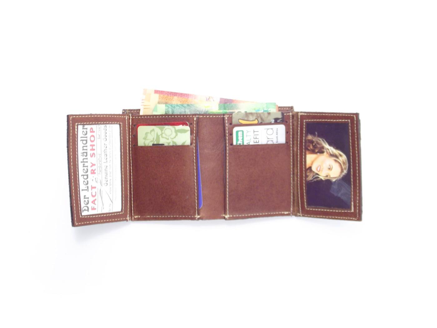 536a3c8312d2 Wallet Men's Three HPMW03WTST - genuine leather credit card holder wallet  by Der Lederhandler
