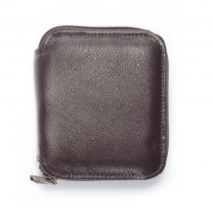Wallet Men's ID Zip Around HPMW06ZKU - genuine leather men wallet zipper by Der Lederhandler