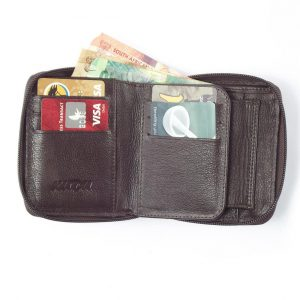 Wallet Men's ID Zip Around HPMW06ZKU
