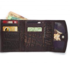 Wallet Men's Seven HPMW07KU - genuine leather wallet with zip by Der Lederhandler