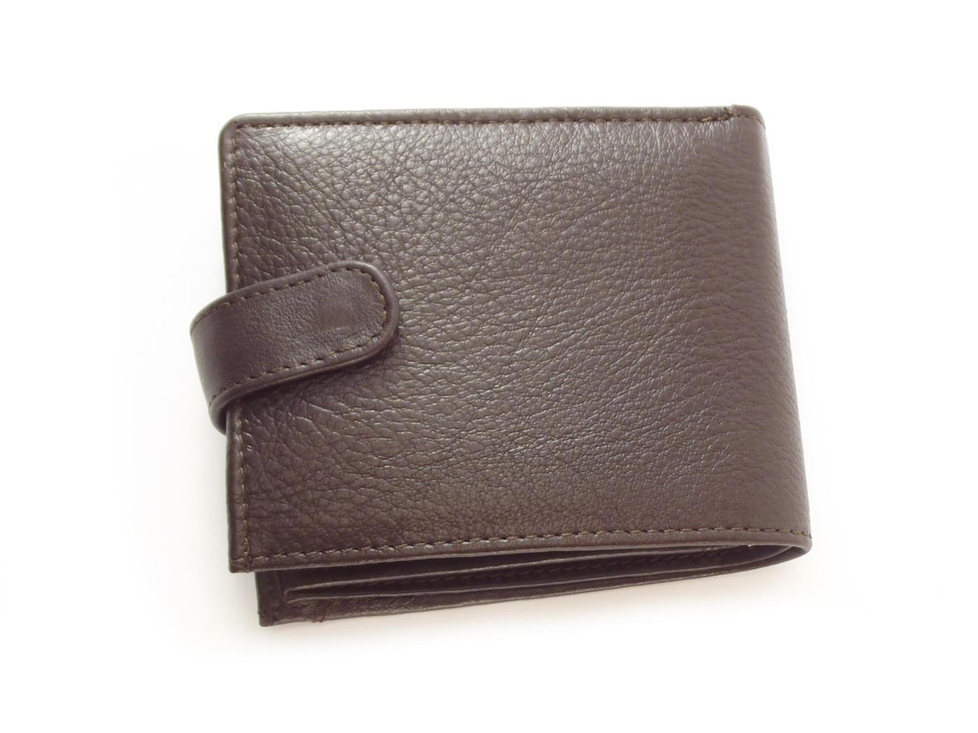 Genuine leather bifold credit card wallet   Der Lederhandler
