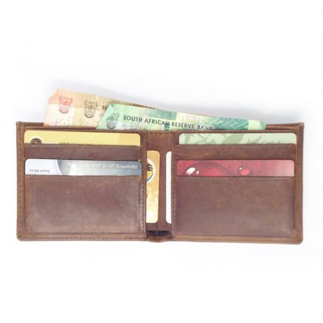 Wallet 6 Cards HPMW19NTKU - full-grain genuine leather bifold wallet mens by Der Lederhandler