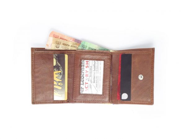 Wallet Mens 3 Fold HPMW24NTKU - full-grain trifold leather wallet for men by Der Lederhandler