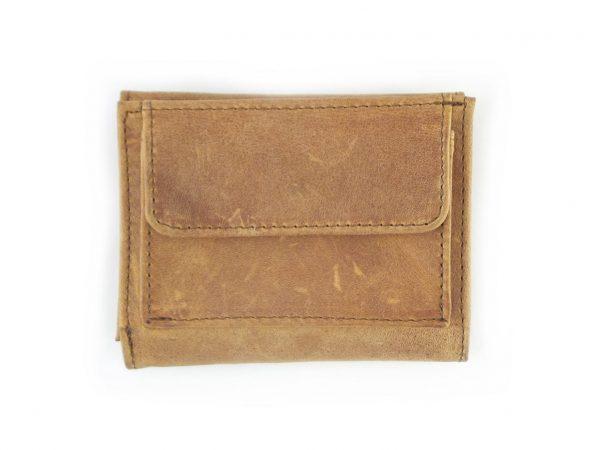 Wallet 3 Fold HPMW25NTKU - mens wallet with coin pocket in front in full-grain genuine leather by Der Lederhandler