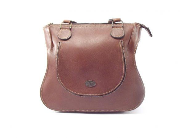 Molly Medium HP7222 - medium double handle ladies saddle leather shoulder handbag by Der Lederhandler
