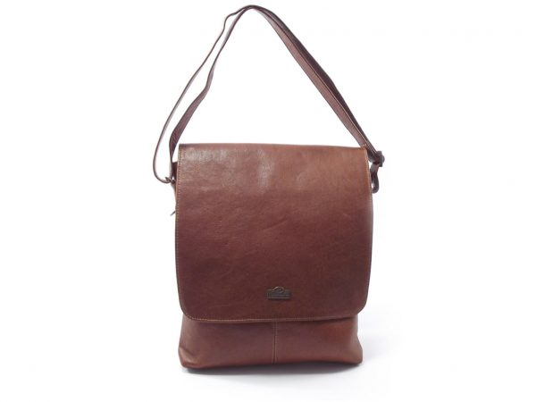 Ane HP7098f single strap ladies leather shoulder handbag with flap - Der Lederhandler, George, Western Cape