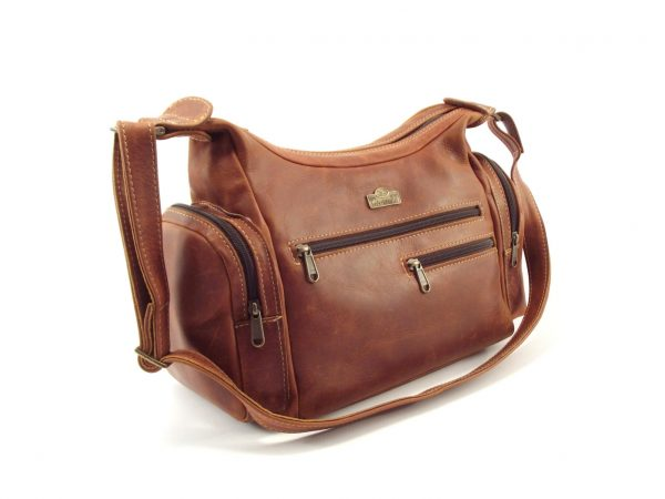 Antje HP316 - leather hobo style ladies shoulder handbag by Der Lederhandler