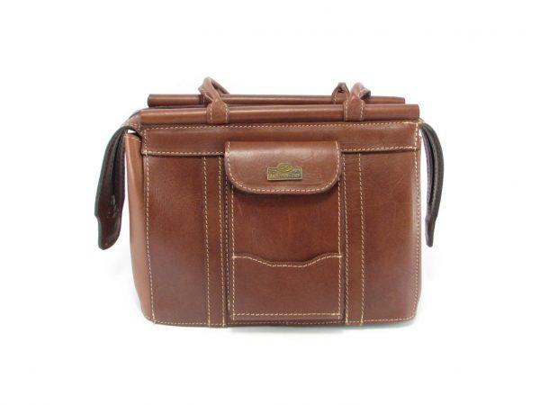 Clerissa HP168 front classic handbag leather bags women, Der Lederhandler, George, Western Cape