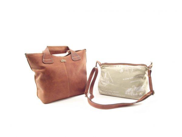 Demi Stiff HP7226 - tote convertible leather handbag by Der Lederhandler