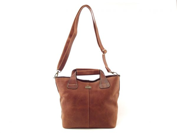 Demi Stiff HP7226 - tote convertible leather handbag by Der Lederhandler