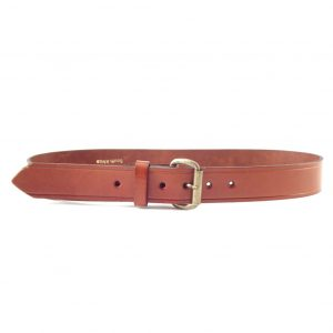 HP0002E Plain Veg - genuine mens leather belt by Der Lederhandler
