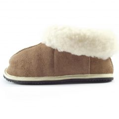 HP5638 Slipper Bunny Suede - full-grain shepherd sheepskin slippers by Der Lederhandler