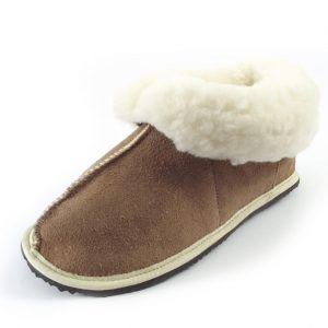 HP5638 Slipper Bunny Suede - full-grain shepherd sheepskin slippers by Der Lederhandler