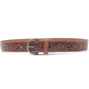 HPHUR006 Big Five - handmade leather belts men by Der Lederhandler