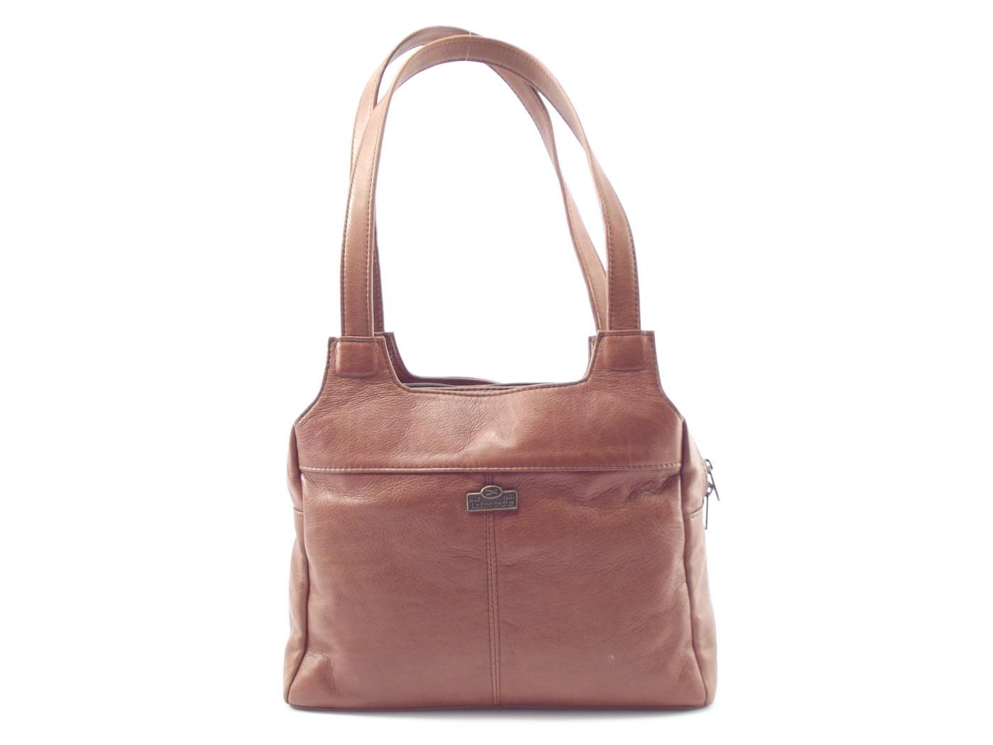 bc612907decf ... Handbags Women  Double strap ladies leather shoulder handbag Der  Lederhandl outlet store b39f4 ad898 ...