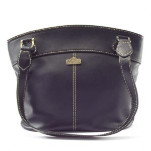 Julia HP7236 - classic double handle leather handbag by Der Lederhandler