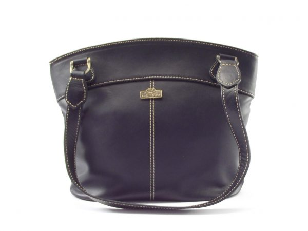 Julia HP7236 - classic double handle leather handbag by Der Lederhandler