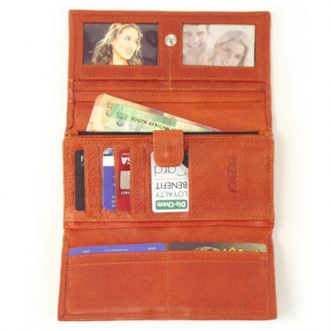 Ladies Wallet four HPLW04KU - full-grain genuine leather purse by der Lederhandler