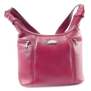 Lana medium HP7146 - classic medium hobo baguette handbag by Der Lederhandler