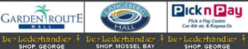 Leather accessories stores in Langeberg Mall and Garden Route mall, George and Mossel bay, Western Cape