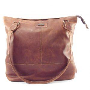 Linda Large HP7273 - large flat tote double strap handbag by Der Lederhandler
