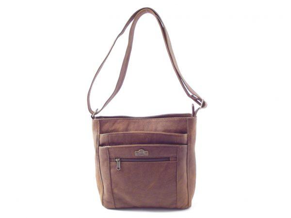 Lynette HP7214 - single strap classic ladies leather shoulder handbag by Der Lederhandler