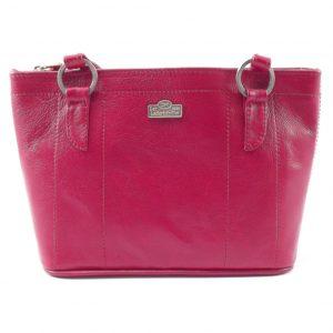 Magdalene Ring HP7154 - medium tote shopper leather handbag by Der Lederhandler