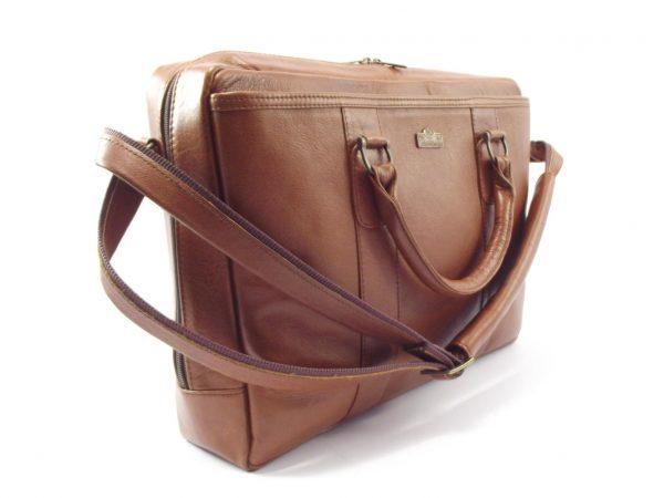 Men's Briefcase 6 HP7228 - leather laptop shoulder bag by Der Lederhandler