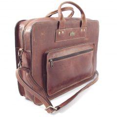 Men's Briefcase 2 HP7240 - leather laptop bag by Der Lederhandler
