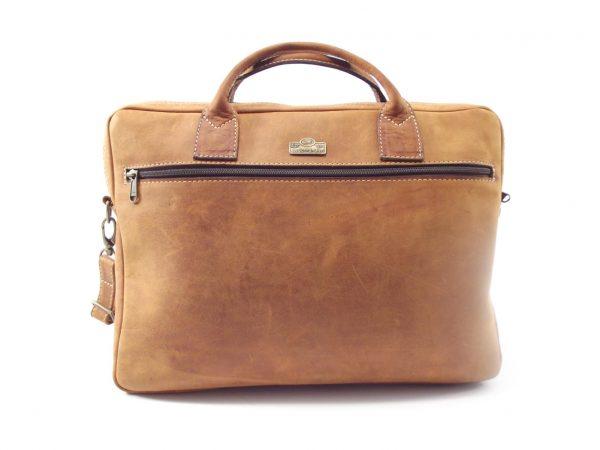 Michael HP7119 - genuine leather briefcase bag by Der Lederhandler