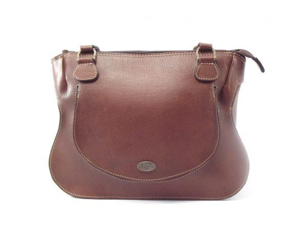 Molly Large HP7223 - large double handle ladies saddle leather shoulder handbag by Der Lederhandler