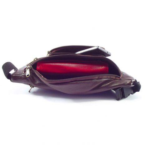 Moonbag Three HP7196 - genuine leather waist belt bag by Der Lederhandler
