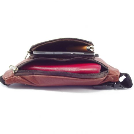 Moonbag Two HP7188 - genuine leather hip bag by Der Lederhandler