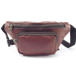 Moonbag Two HP7188 - genuine leather hip bag by Der Lederhandler