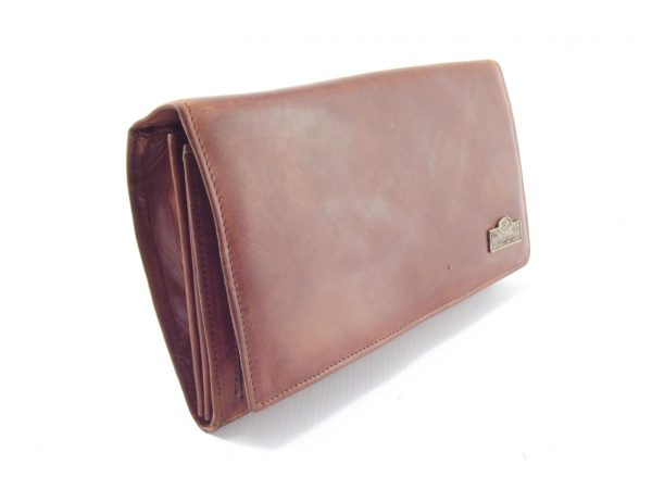 Nikki Clutch Purse HP7275 - full-grain genuine leather wrist clutch bag by Der Lederhandler