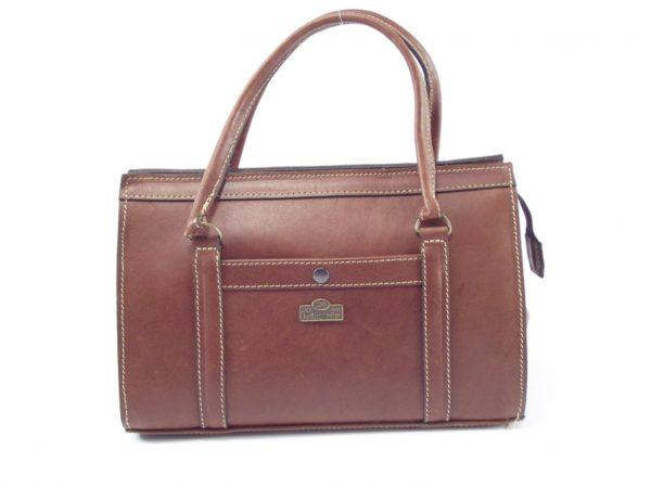 Petronella HP228 - genuine leather structured ladies leather shoulder handbag by Der Lederhandler