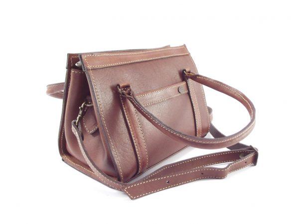 Rafaella HP227 - convertible handle structured ladies leather shoulder handbag by Der Lederhandler