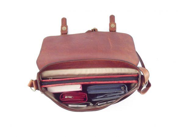 Reggie HP7279 - large leather satchel crossbody handbag