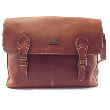 Reggie HP7279 - large leather satchel crossbody handbag