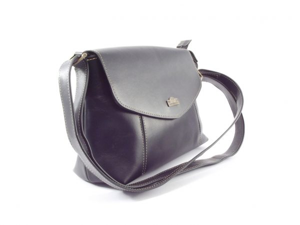 Rhona HP7246 - elegant leather crossbody handbag by Der Lederhandler