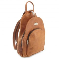 Romy Rucksack HP7172 side leather backpack bags, Der Lederhandler, George, Western Cape