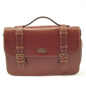 Sabine HP108 - durable leather crossbody satchel briefcase handbag by Der Lederhandler