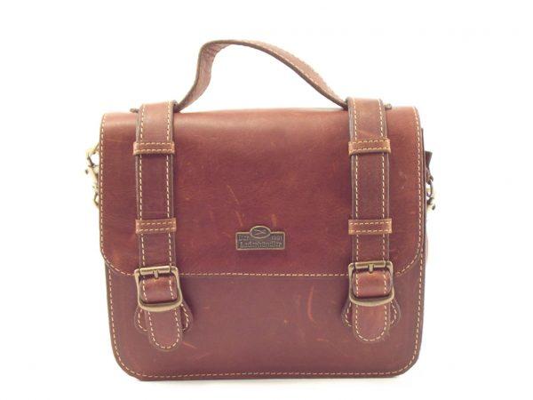 Sabine Small HP7276 - crossbody shoulder satchel handbag by Der Lederhandler