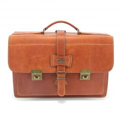 School Bag Large HP102 front leather tech bags, Der Lederhandler, George, Western Cape