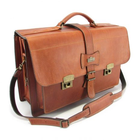 School Bag Large HP102 side leather tech bags, Der Lederhandler, George, Western Cape