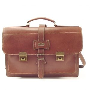 School Large HP102 - leather briefcase laptop bag by